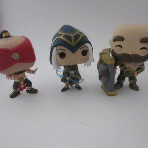 League of Legends Funko lot- Braum, Ashe, Lee Sin